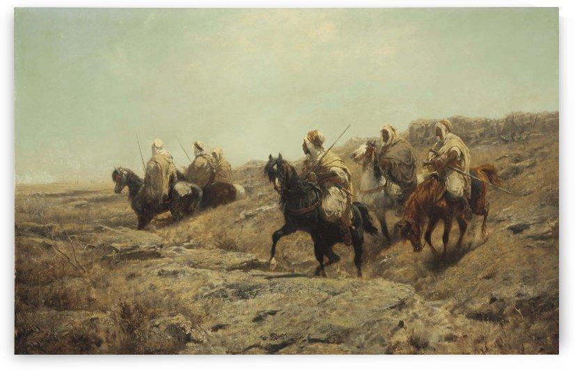 Arabische Krieger by Adolf Schreyer