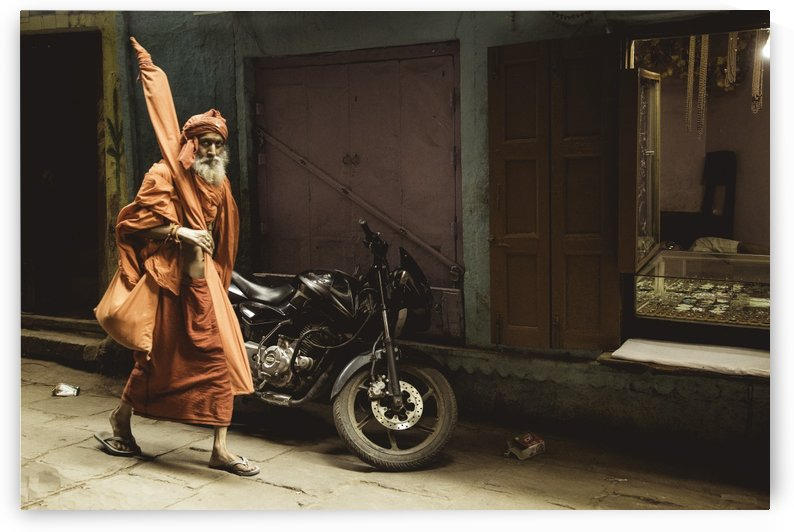Varanasi Window - Pilgrim by Sebastian Dietl