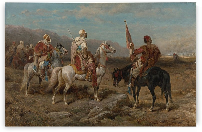 Arab caravan patrol by Adolf Schreyer