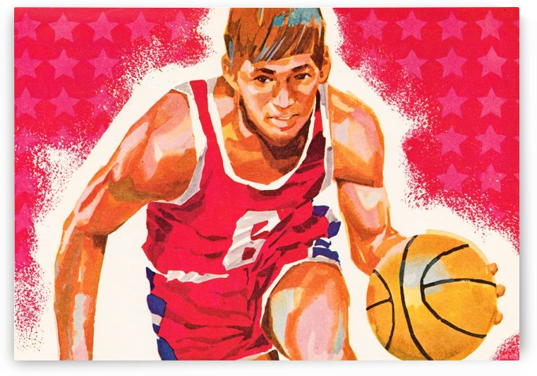 vintage basketball art retro basketball jersey poster row one brand by Row One Brand