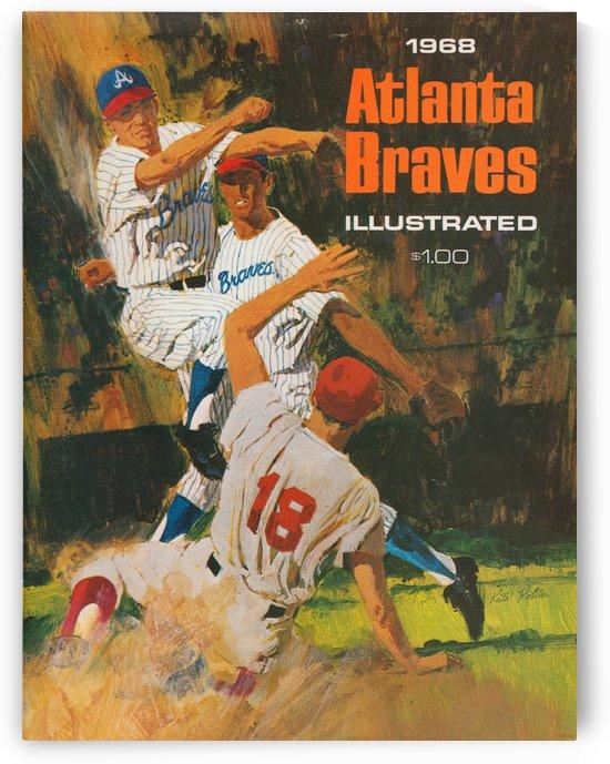1969 atlanta braves baseball poster artist keith kohler vintage baseball print by Row One Brand