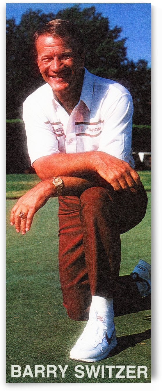 barry switzer photo oklahoma football poster ou sooners wall art by Row One Brand