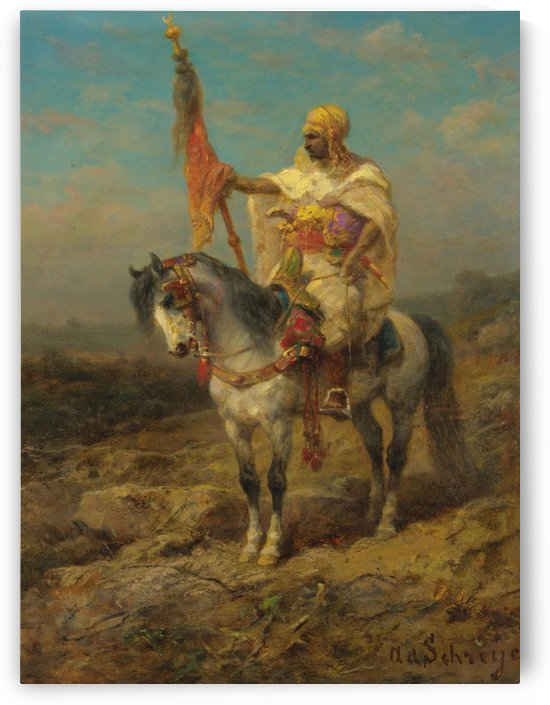 Arab rider by Adolf Schreyer