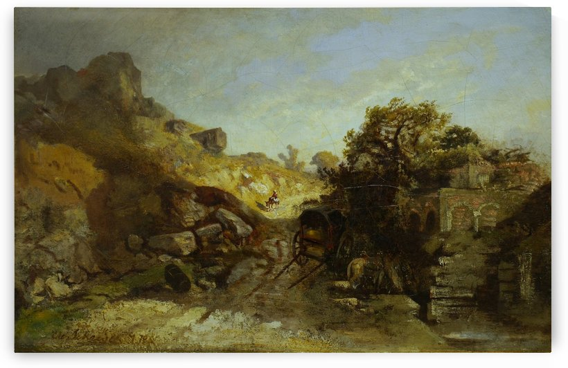 Walachische Landscape by Adolf Schreyer