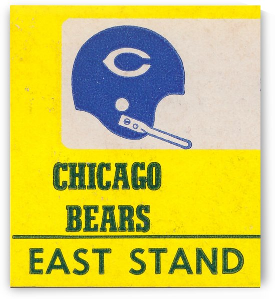 vintage chicago bears art poster metal canvas by Row One Brand