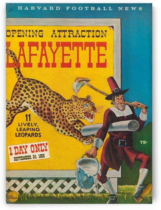 1966 lafayette harvard football news cover art by Row One Brand