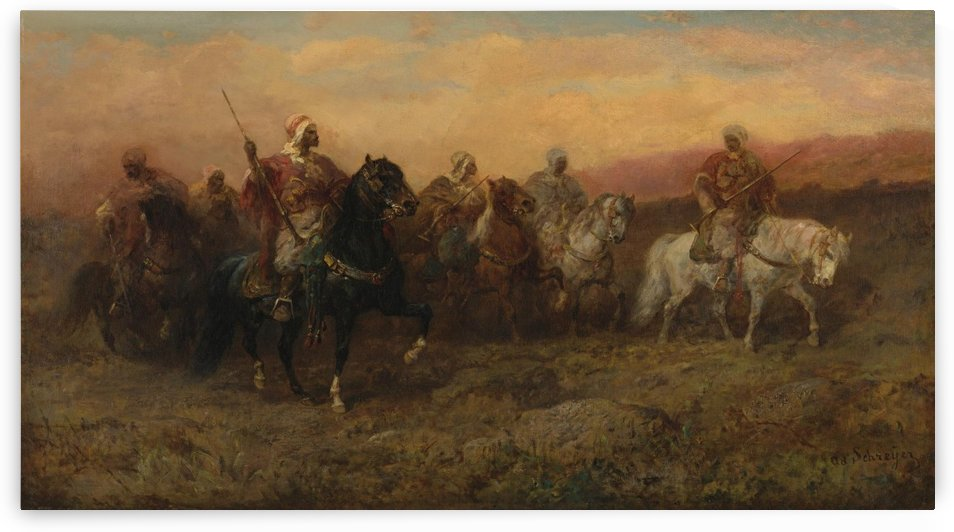 Arab patrol by Adolf Schreyer
