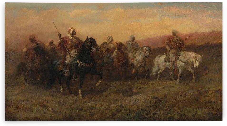 Arab patrol by Adolf Schreyer