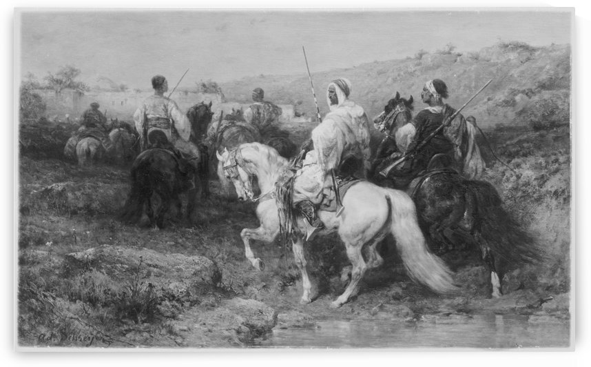 Arabs on the March by Adolf Schreyer