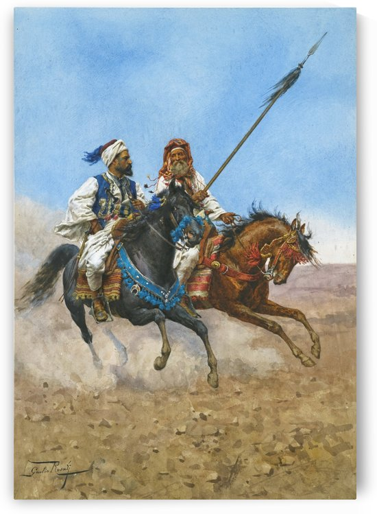 Arab riders by Adolf Schreyer