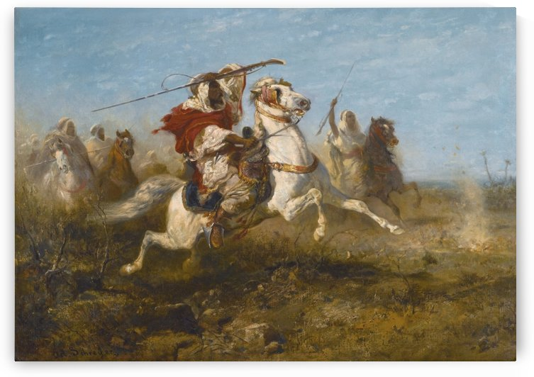 Arab raid by Adolf Schreyer