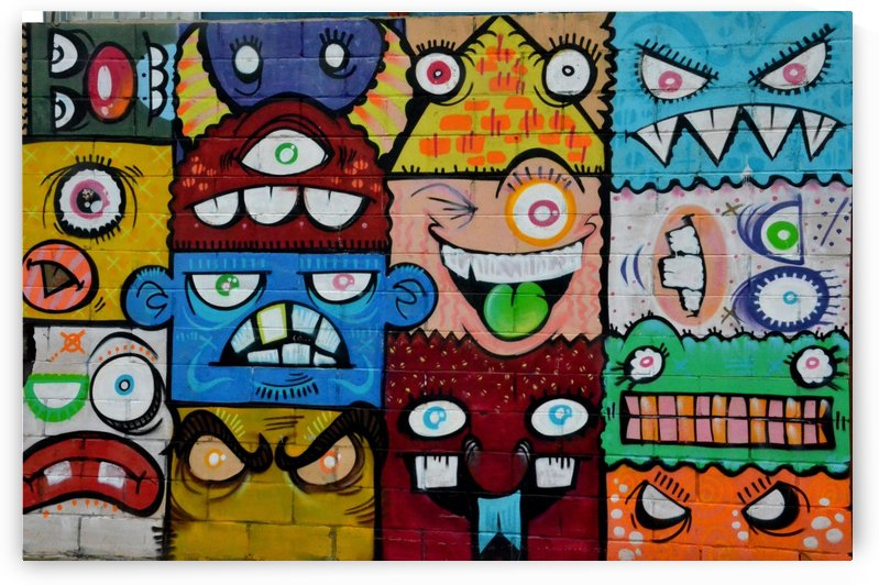 Photography multicolored monster painting by Shamudy