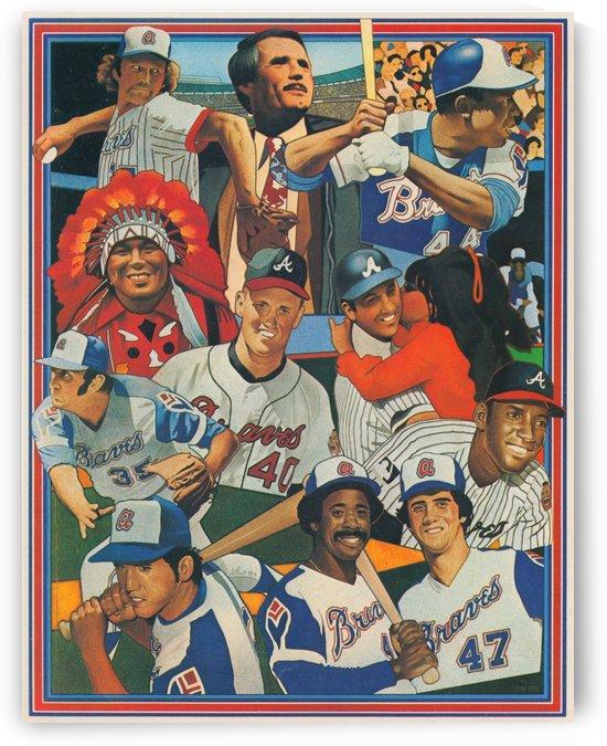 1977 Atlanta Braves Art by Row One Brand