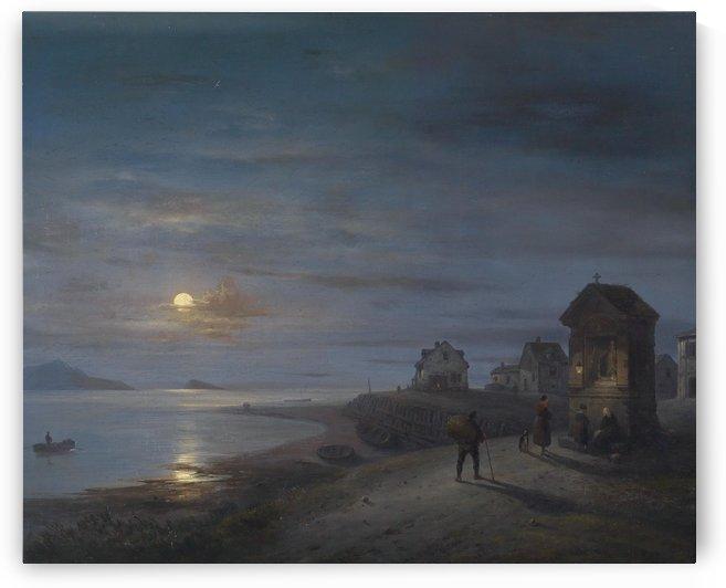 Kustenlandschaft 1840 by Giuseppe Canella