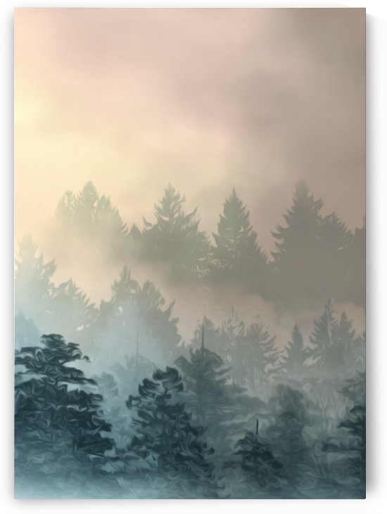 Foggy Pine Woods by Artistic Paradigms