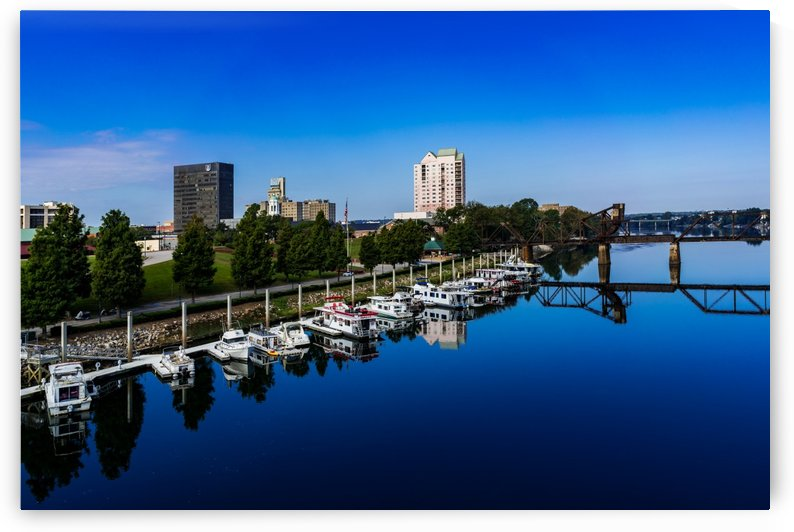 Downtown Augusta GA Skyline and the Savannah River 3894 by @ThePhotourist