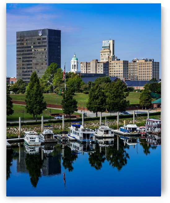 Downtown Augusta GA Skyline and the Savannah River 3886 by @ThePhotourist