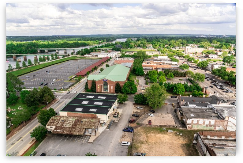 Downtown Augusta GA Aerial View 6682 by @ThePhotourist