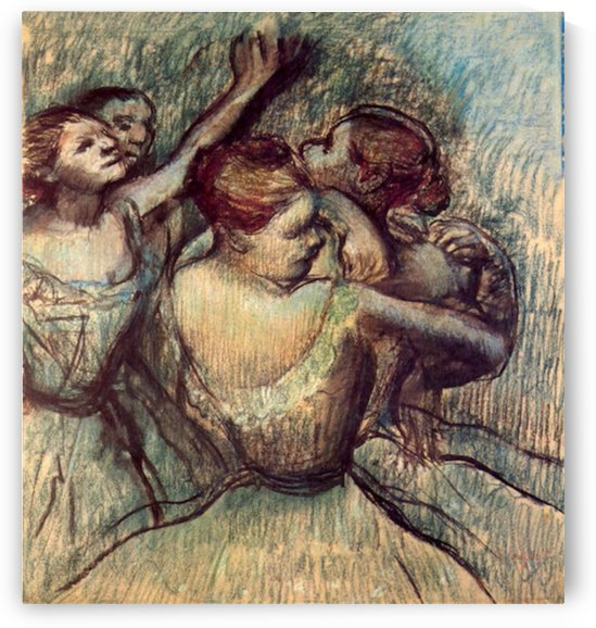 Four dancers in half figure by Degas by Degas