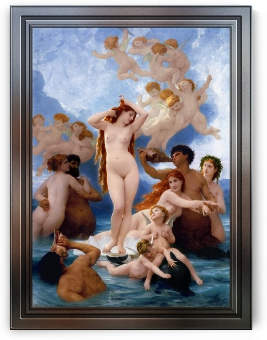 The Birth Of Venus by William-Adolphe Bouguereau Old Masters Fine Art Reproduction by xzendor7