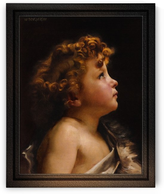 Young John The Baptist by William-Adolphe Bouguereau Fine Art Old Masters Reproduction by xzendor7