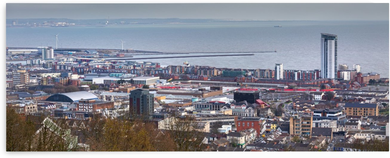 Swansea city South Wales UK by Leighton Collins