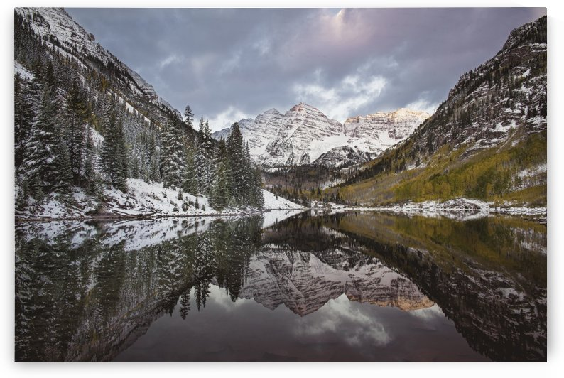Maroon Bells full color by Sebastian Dietl