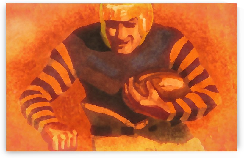 vintage football posters vintage football jersey old helmet poster_1586306536.6399 by Row One Brand