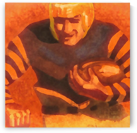 vintage football posters vintage football jersey fine art sports print by Row One Brand