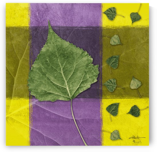 Leaves2 on Indigo & Amethyst 1x1 by Veratis Editions
