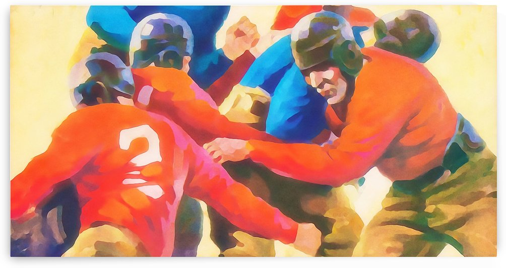 Football Poster Art Print Best Sports Art Posters (1) by Row One Brand