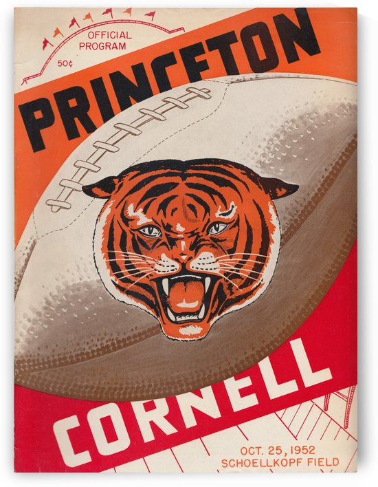 1952_College_Football_Princeton_Cornell_Schoellkopf Field_Program Poster by Row One Brand