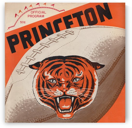 Princeton Tigers Football Program Cover Art_Unique Sports Gift Ideas by Row One Brand