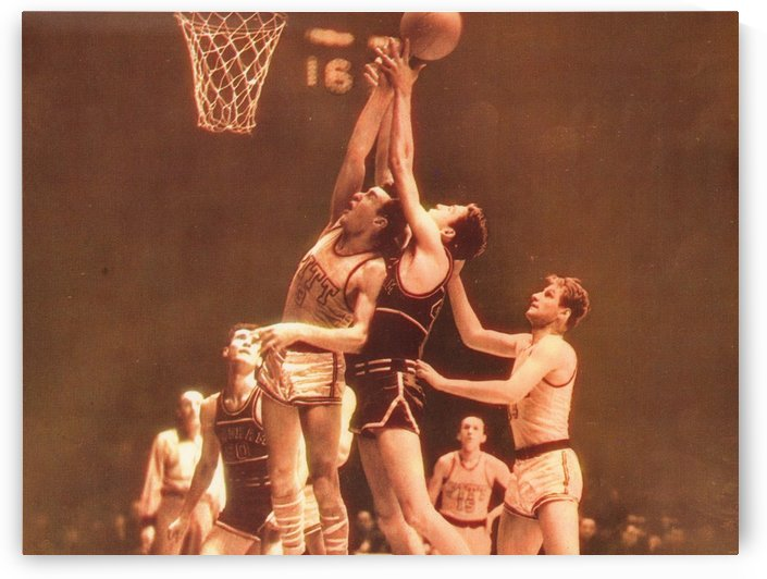 1940_College Basketball_Fordham vs. Pitt_Madison Square Garden_NYC_First Televised College Game NBC by Row One Brand