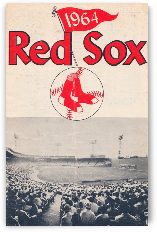 Vintage Boston Red Sox Fenway Park Poster by Row One Brand