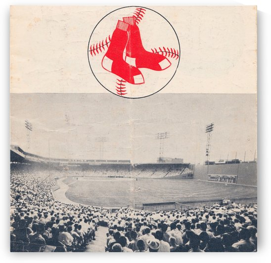 Vintage Fenway Park Poster_Boston Red Sox Photo Reproduction by Row One Brand