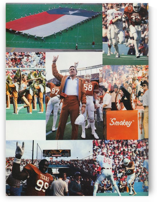 Texas Longhorns Football Poster_Texas Longhorn College Football Photo Collage by Row One Brand