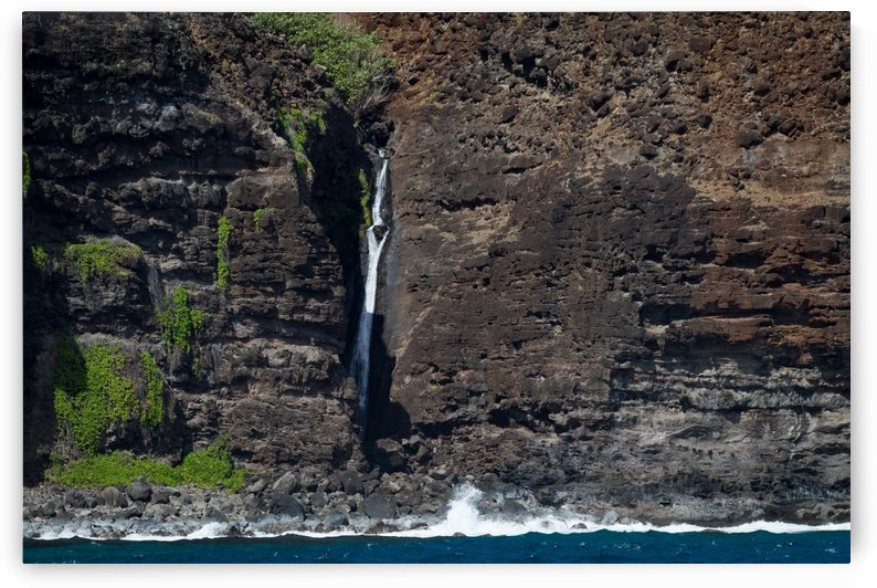 Na Pali Coast Waterfall   Kauai Hawaii 9880 by @ThePhotourist