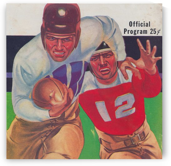 Vintage Football Framed Program Cover Art Posters (1937) by Row One Brand