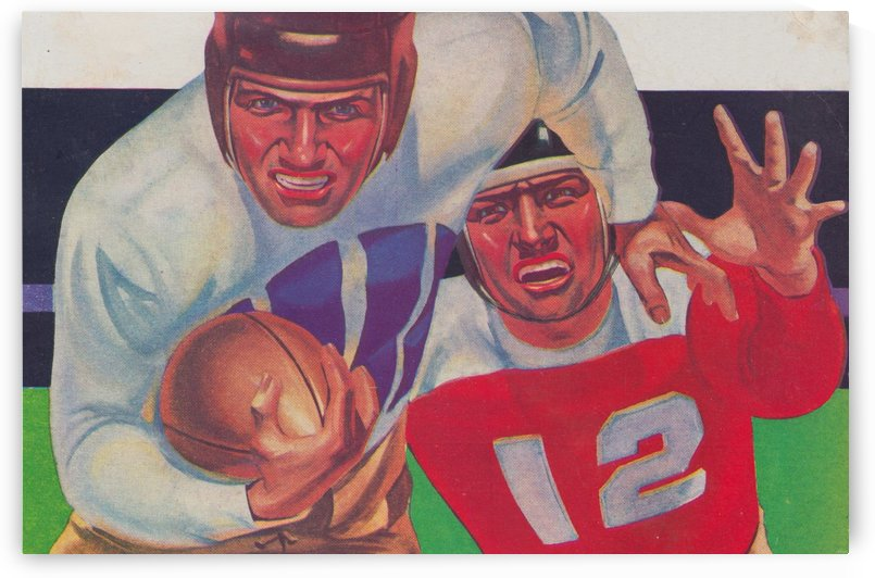Vintage Football Fine Art Prints_ Old Football Art Poster by Row One Brand