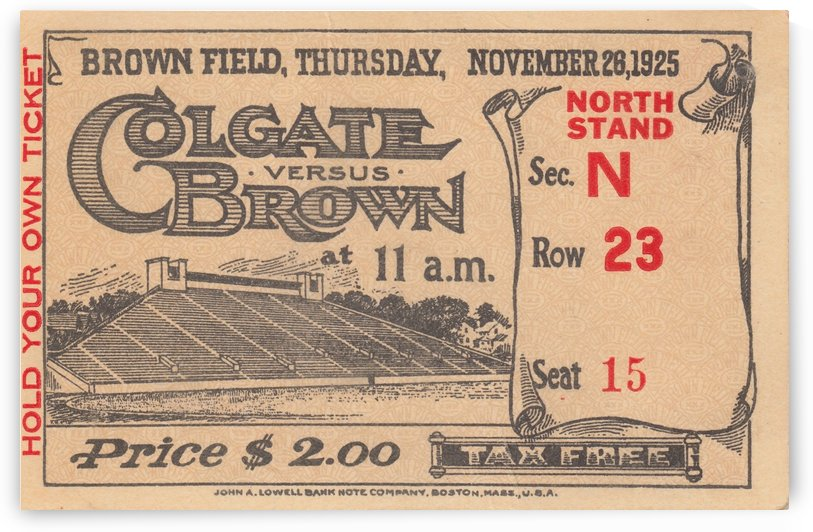1925 Brown vs. Colgate by Row One Brand