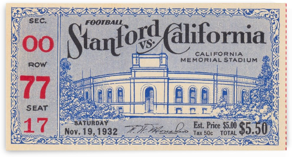 1932 Cal vs. Stanford by Row One Brand