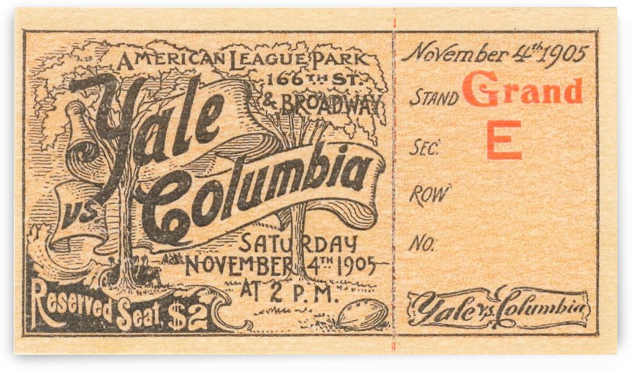 1905 Yale vs. Columbia by Row One Brand