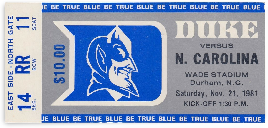 1981 Duke vs. North Carolina by Row One Brand