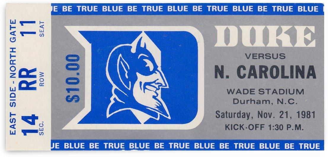 1981_College_Football_Duke vs. North Carolina_Wade Stadium_Duke University Wall Art by Row One Brand