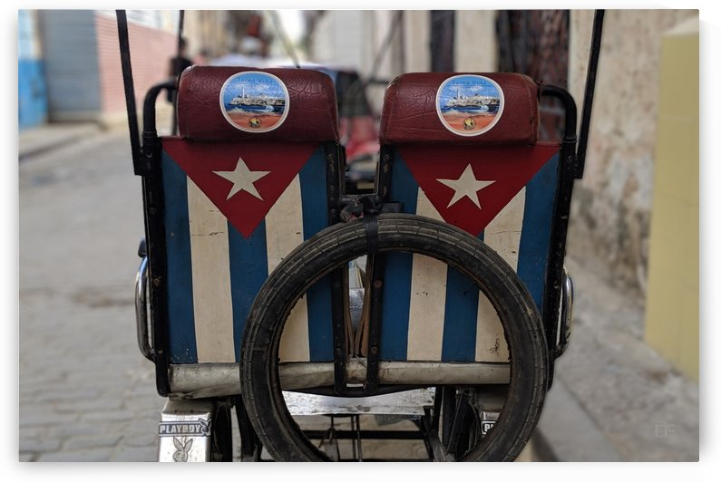 Cuban Bicycle Taxi by Aldo Cruz