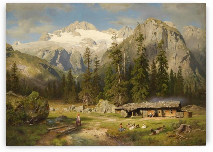 Eine Almwirtschaft by August Wilhelm Leu