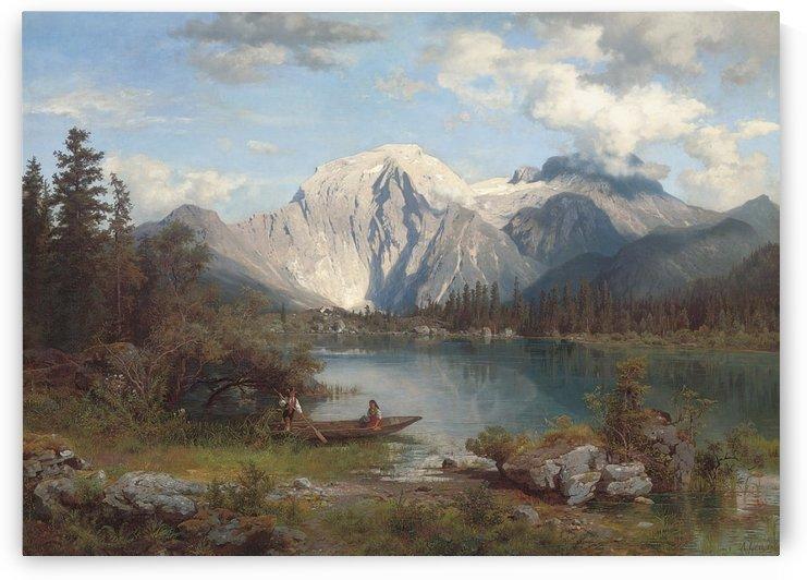 Im Schatten der Alpen (1860) by August Wilhelm Leu