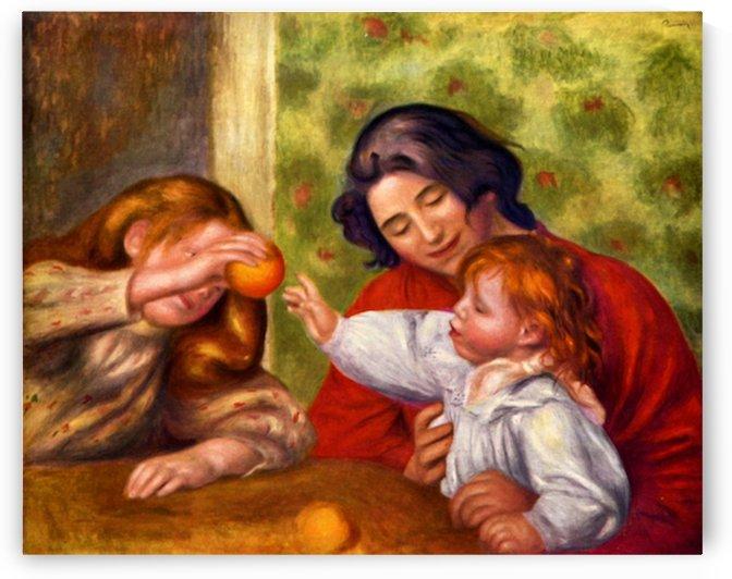 Gabrielle Jean and a girl by Renoir by Renoir