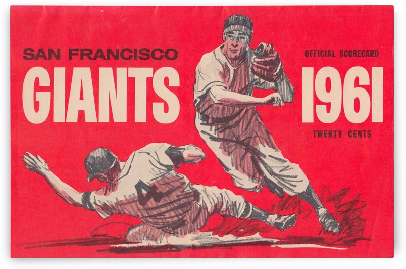 1961 San Francisco Giants Scorecard_Bay Area Home Decor Ideas by Row One Brand